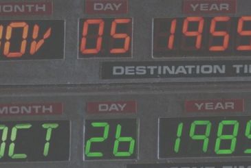 "November 5, 1955: Emmett ""Doc"" Brown invents the Flux Capacitor, and is grateful to the sink"