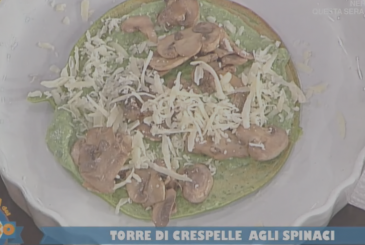 Anna Maria Palma To The proof of the cook today, prepare the tower of crepes with spinach