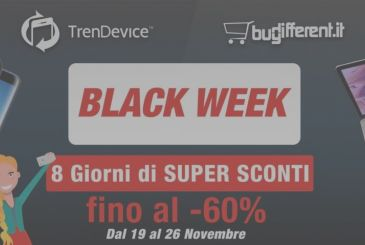It's already started, the Black Week TrenDevice and BuyDifferent: today is the 2nd day of Super Discounts up to -60%