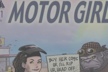 Motor Girl: Terry Moore at work on the TV series for Hulu