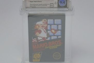 Super Mario Bros. cartridge at auction for up to $100,000