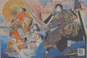 One Piece: design the anime, Luffy, Chopper and Nami to Wano Country