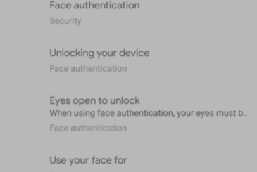 "Android Q Beta 4 hides the menu for the ""facial recognition"""