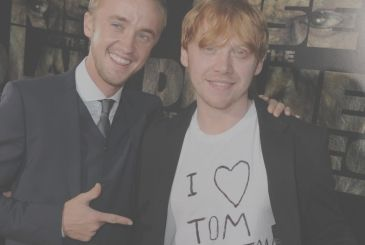 Harry Potter: Tom Felton (Malfoy) and Rupert Grint (Ron) open to a return