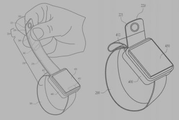 Patent Apple: Apple Watch with camera on strap