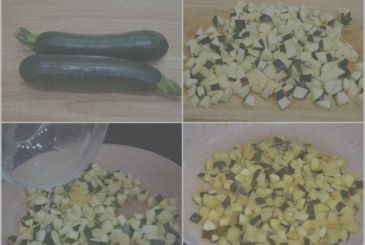Pasta with courgette, tuna and lemon