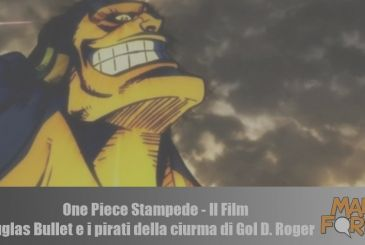 One Piece Stampede – The Movie: Douglas Bullet and the pirates of the crew of Gol D. Roger