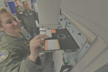 U. S. A.: the army is coordinating the dropping of the atomic with the floppy disc