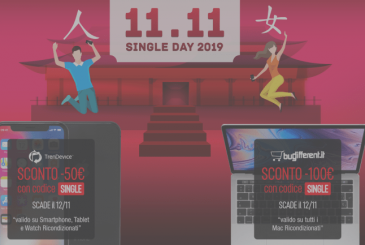 Discounts on Single Day: up to -100€ on TrenDevice and BuyDifferent. Unmissable offers on Smartphones, Tablets and Mac Reconditioned.