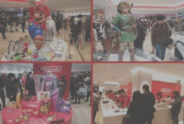Japan: photos of the opening of the store Nintendo Tokyo