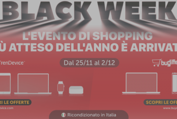 Black Week TrenDevice and BuyDifferent: 8 days of Super Discounts on Smartphones, Tablets and Mac Reconditioned. Up to 2/12.