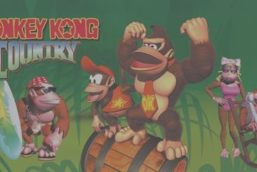 Donkey Kong Country: illustration of celebrations for the 25th anniversary