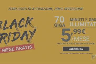 The Bomb Kena Mobile Black Friday captivate users Iliad, and not only 70GB to 5,99€