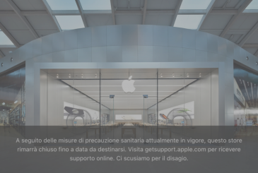 All Apple Store in Italy will remain completely closed until further notice!