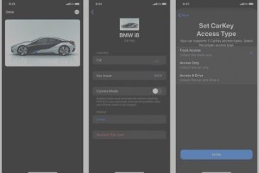 Here are the first screenshots of the CarKey, the function of iOS 14 to use the iPhone as the key for the car