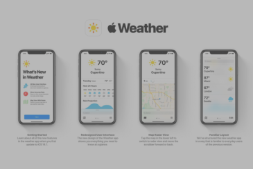 A new concept shows the Weather app of iOS-style Dark Sky