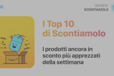 The Top 10 of Scontiamolo: Here are the most sold products of the week, still off for a few hours