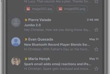 Gmail for iOS supports finally the Dark Mode