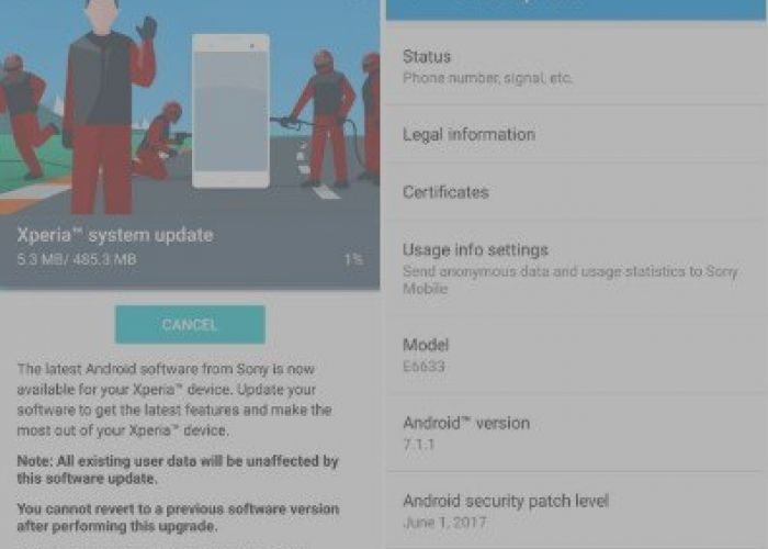 Sony Xperia Z5, Z4 Tablet and Z3 Plus update for A